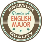 English Major vintage college look tees