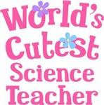 Worlds Cutest Science Teacher Tshirts