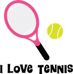 I Love Tennis Tees and Gifts