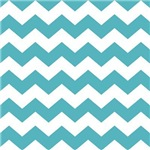 Chevron Zigzag Teal Striped Gifts