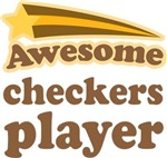 Awesome Checkers Player T-shirts