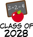 Class Of 2028 apple school tees