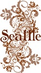 Seattle Washington Swirl Tshirts and gifts