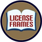 BOOK LOVER LIBRARIAN LICENSE FRAMES
