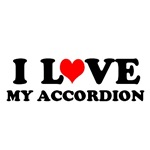 I Love My Accordion T-shirts and Gifts