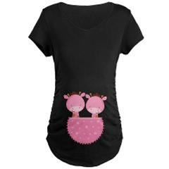 TWINS AND TRIPLETS Maternity T-shirts