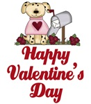 Happy Valentine's Day Puppy Gifts and Magnets