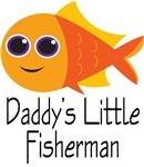Daddy's Little Fisherman T-shirts For Kids