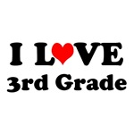 I Love Third Grade T-shirts / Caps