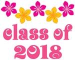Tropical Floral Class Of 2018 Grad T-shirt