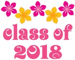 Tropical Floral Class Of 2018 Grad T-shirt
