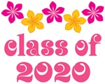 Tropical Floral Class Of 2020 Grad T-shirt