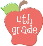 Fourth  Grade Stitch Apple T-shirts and Gifts