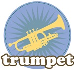 Retro Burst Blue Trumpet T Shirt Gifts