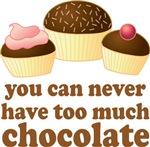 Sweet Chocolate Lover Cupcakes Tees
