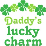 Cute Irish Daddy's Lucky Charm Kids T-shirts