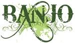 Green Grunge Banjo T-shirts