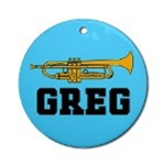 PERSONALIZED TRUMPET ORNAMENTS | TRUMPET ORNAMENT