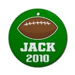PERSONALIZED FOOTBALL CHRISTMAS ORNAMENTS