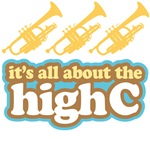 Funny High C Trumpet T-shirts and Music Gifts