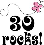 Cute 30 Rocks 30th Birthday T-shirts