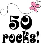 Cute 50 Rocks 50th Birthday T-shirts