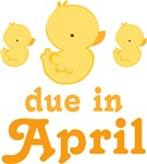 April Baby Duck Design Maternity Tees