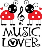 Music Lover Gift Ladybug T-shirts