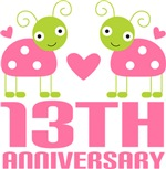 13th Anniversary Pink Ladybug T-shirts
