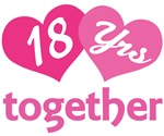 18th Anniversary Hearts Gift T-shirts