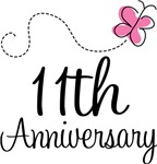 11th Anniversary Pink Butterfly Keepsake Gifts