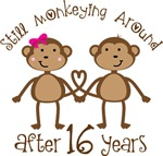 16th Anniversary Funny Monkey Gifts