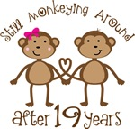 19th Anniversary Funny Monkey Gifts