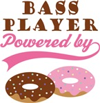 BASS PLAYER POWERED BY DONUTS T-shirts