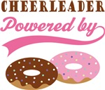 Cheerleader Powered By Donuts Gift T-shirts