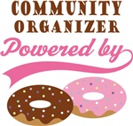 Community Organizer Powered By Donuts Gift Tees