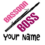 PERSONALIZED BASSOON BOSS T-SHIRTS