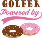 Golfer Powered By Donuts Gift T-shirts