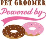 Pet Groomer Powered By Donuts Gift T-shirts