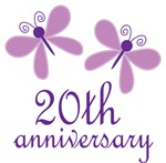 20th Anniversary Gift Purple Butterfly