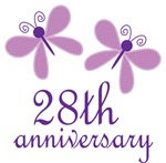 28th Anniversary Gift Purple Butterfly