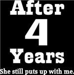 Funny 4th Anniversary Quote T-shirts and Gifts