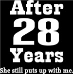 Funny 28th Anniversary Quote T-shirts and Gifts