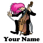 PERSONALIZED FUNNY CELLO T-SHIRTS
