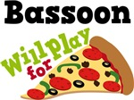 Bassoon Will Play For Pizza T shirts