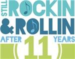 11th Anniversary Rock N Roll Tshirts