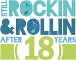 18th Anniversary Rock N Roll Tshirts