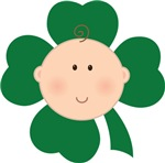 Four Leaf Clover Irish Baby T-shirts