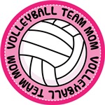 Pink Volleyball Team Mom Gifts and T-shirts