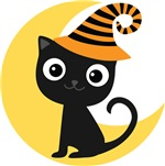 Cute Halloween Cat Tee Shirts and Gifts